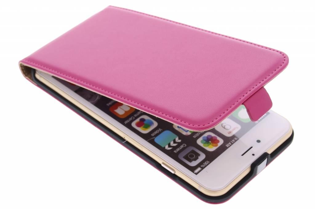 Fuchsia luxe flipcase voor de iPhone 6(s) Plus