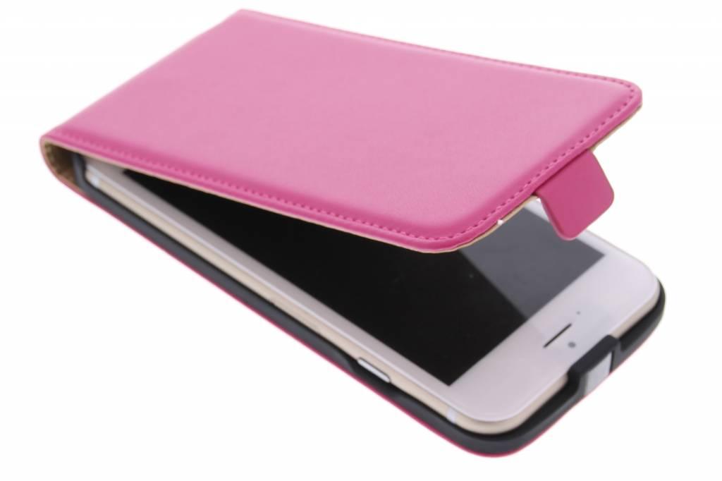 Fuchsia luxe flipcase voor de iPhone 6 / 6s