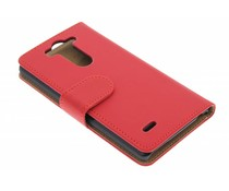 Rood effen booktype LG G3 S
