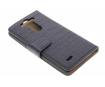 Zwart krokodil booktype hoes LG G3 S