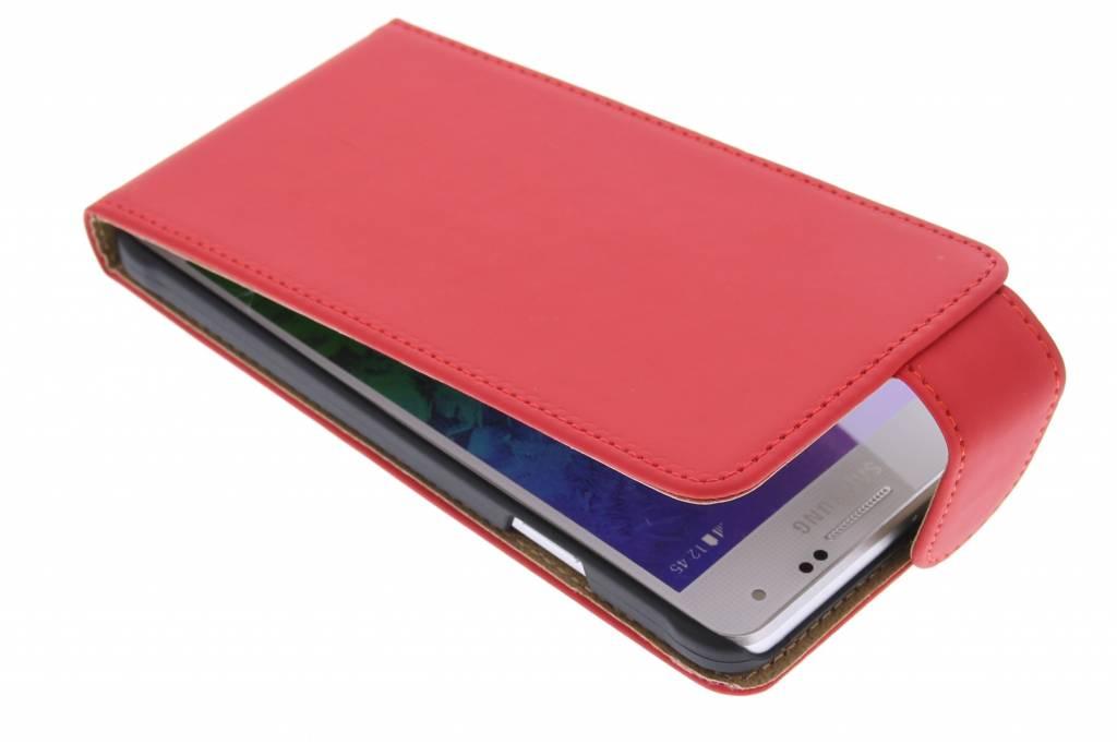 Rode classic flipcase voor de Samsung Galaxy Alpha
