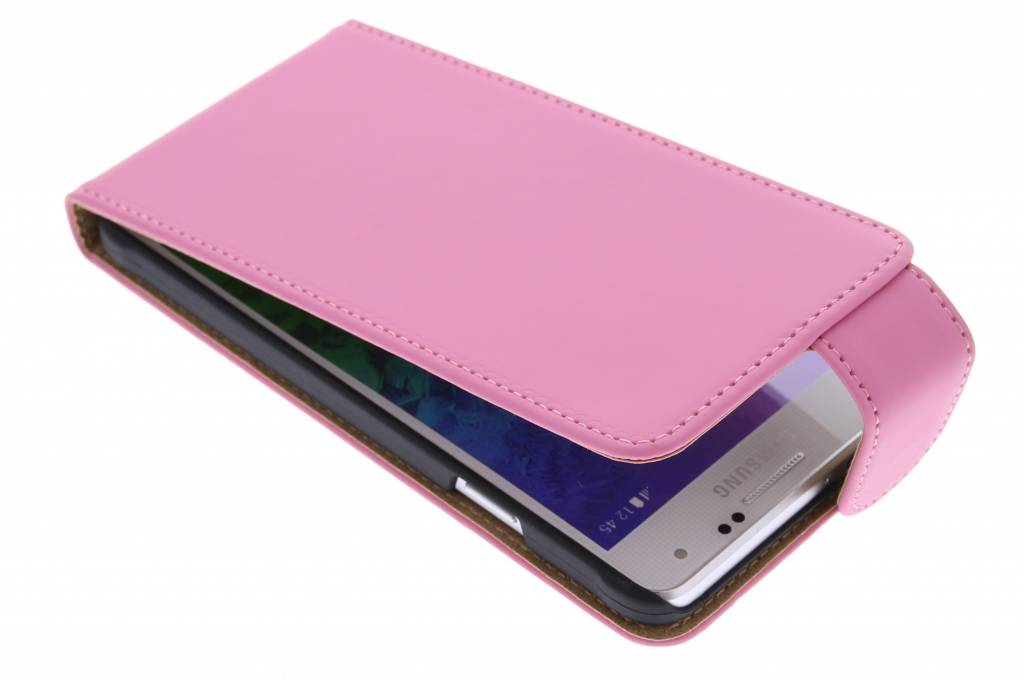 Roze classic flipcase voor de Samsung Galaxy Alpha
