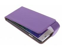Paars classic flipcase Samsung Galaxy Alpha