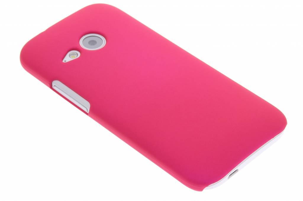 Fuchsia effen hardcase voor de HTC One Mini 2