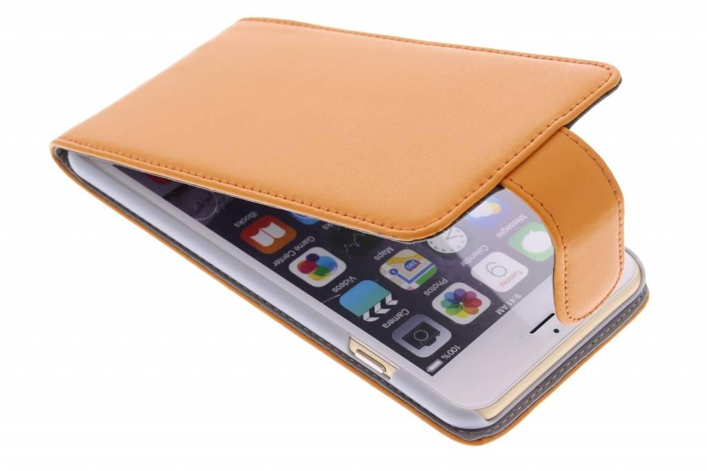 Oranje stijlvolle flipcase voor de iPhone 6(s) Plus