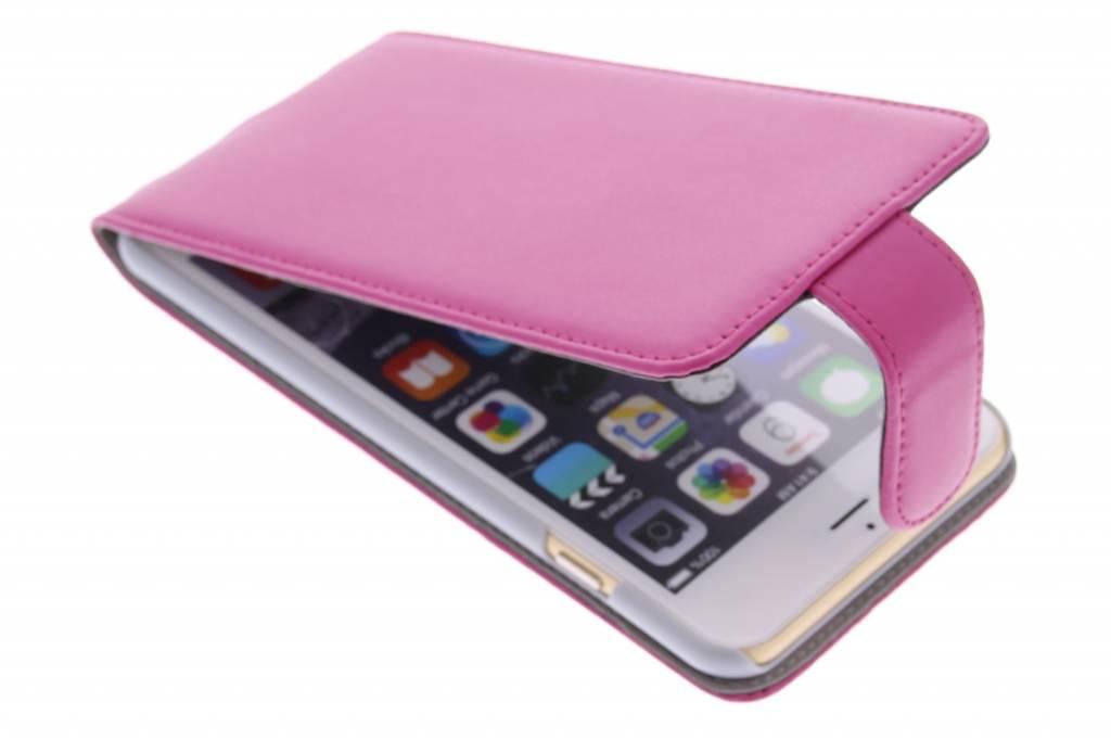 Fuchsia stijlvolle flipcase voor de iPhone 6(s) Plus