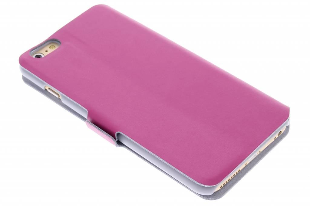 Fuchsia luxe booktype hoes voor de iPhone 6(s) Plus