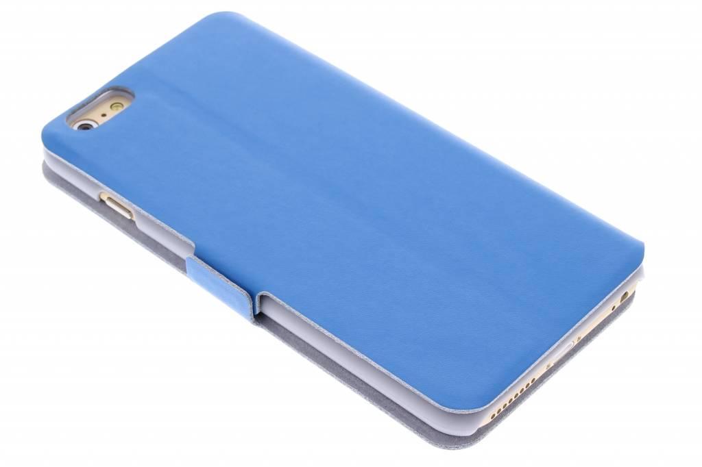 Blauwe luxe booktype hoes voor de iPhone 6(s) Plus