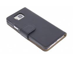 Zwart effen booktype hoes Samsung Galaxy Alpha
