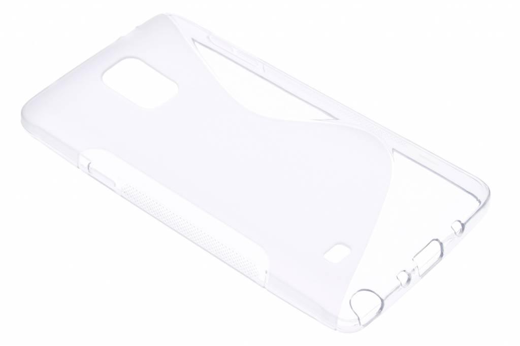 Transparant S-line TPU hoesje voor de Samsung Galaxy Note 4
