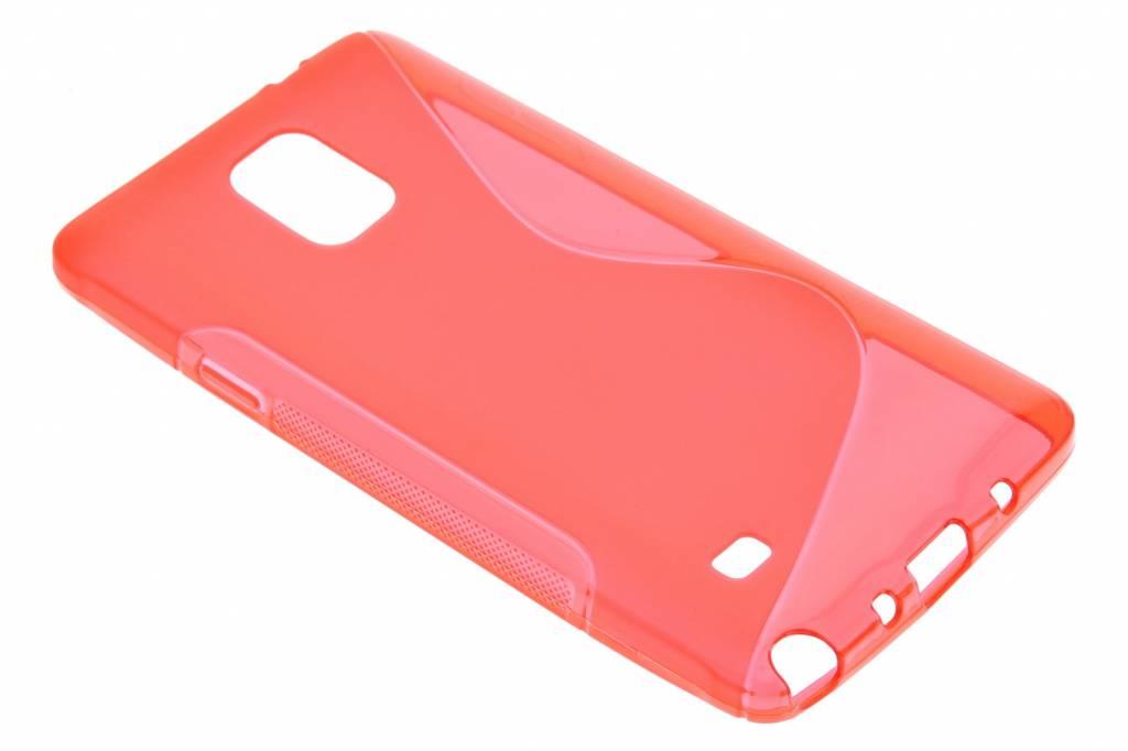 Rood S-line TPU hoesje voor de Samsung Galaxy Note 4