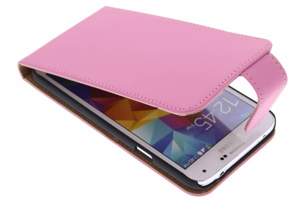 Roze classic flipcase voor de Samsung Galaxy S5 (Plus) / Neo