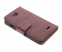 Rood slangen booktype hoes LG L70 / L65