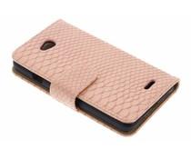 Roze slangen booktype hoes LG L70