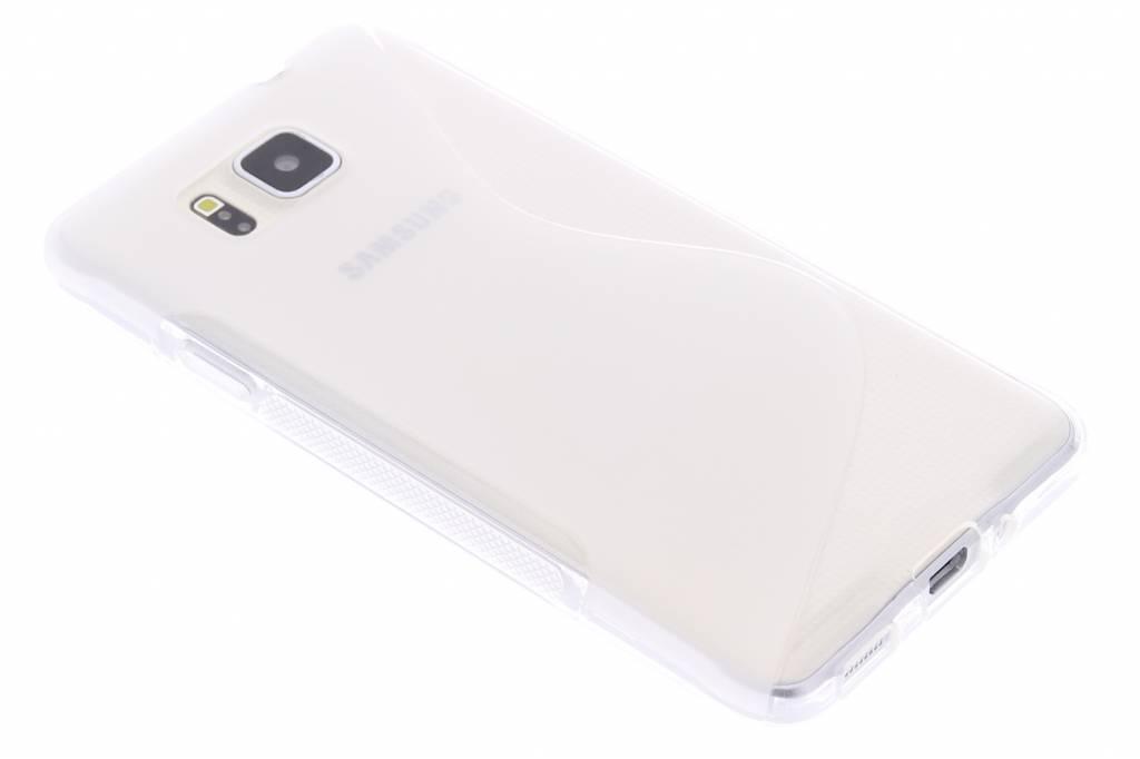 Transparant S-line TPU hoesje voor de Samsung Galaxy Alpha