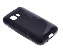 Zwart S-line TPU hoesje Samsung Galaxy Young 2