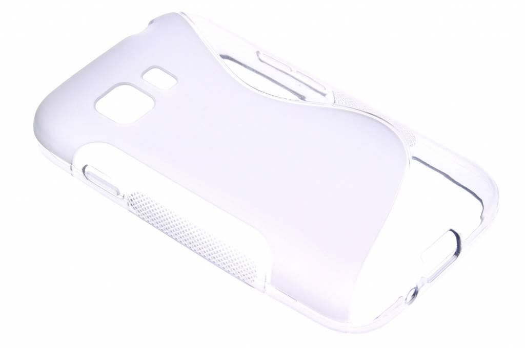 Grijs S-line TPU hoesje voor de Samsung Galaxy Young 2