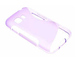 Paars S-line TPU hoesje Samsung Galaxy Young 2