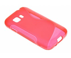 Rood S-line TPU hoesje Samsung Galaxy Young 2
