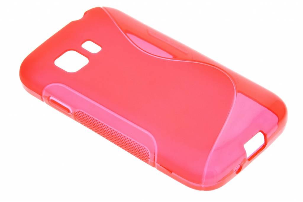 Rood S-line TPU hoesje voor de Samsung Galaxy Young 2