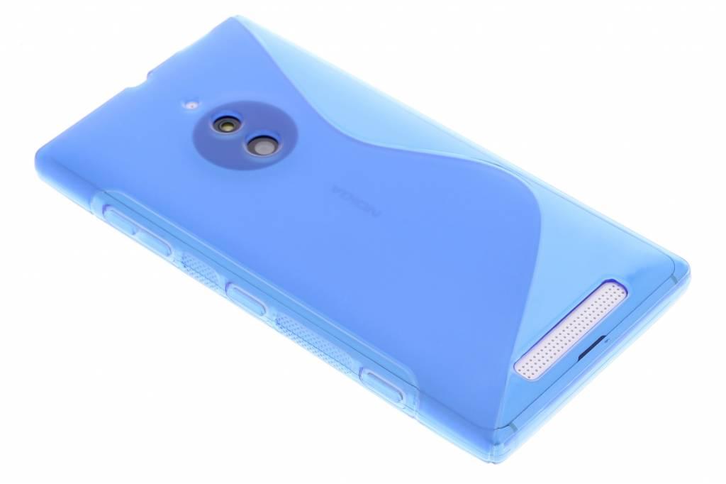 Blauw S-line TPU siliconen hoesje voor de Nokia Lumia 830