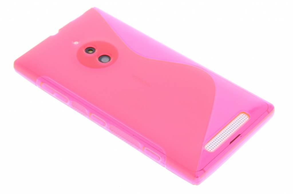 Rosé S-line TPU siliconen hoesje voor de Nokia Lumia 830