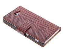 Rood slangen booktype Sony Xperia M2 (Aqua)