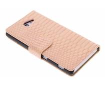 Roze slangen booktype Sony Xperia M2 (Aqua)