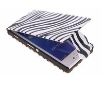 Zebra flipcase Sony Xperia M2 (Aqua)