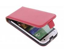 Rood luxe flipcase HTC One Mini 2