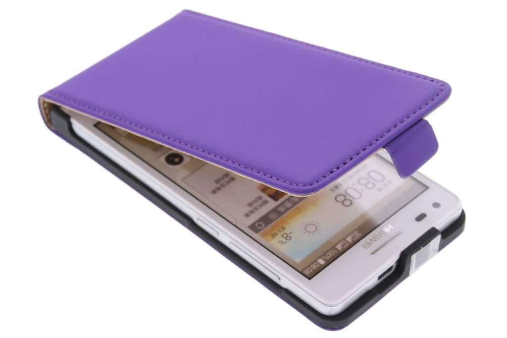 Mobiparts Premium flipcase voor de Huawei Ascend G6 - Purple