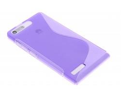 Paars S-line TPU hoesje Huawei Ascend G6
