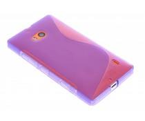 Paars S-line TPU hoesje Nokia Lumia 930