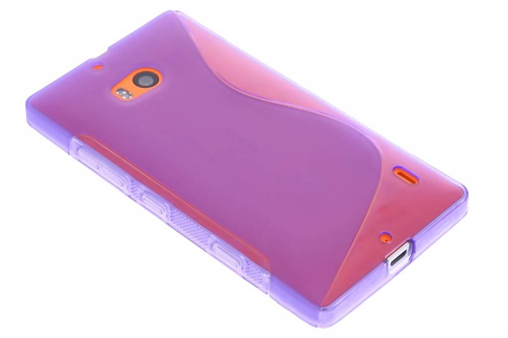 Paars S-line TPU hoesje voor de Nokia Lumia 930