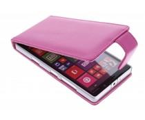Roze stijlvolle flipcase Nokia Lumia 930