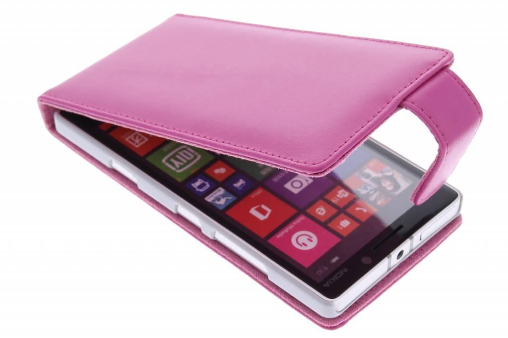 Roze stijlvolle flipcase voor de Nokia Lumia 930
