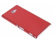 Rood effen hardcase hoesje Sony Xperia M2 (Aqua)