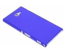 Blauw effen hardcase hoesje Sony Xperia M2 (Aqua)