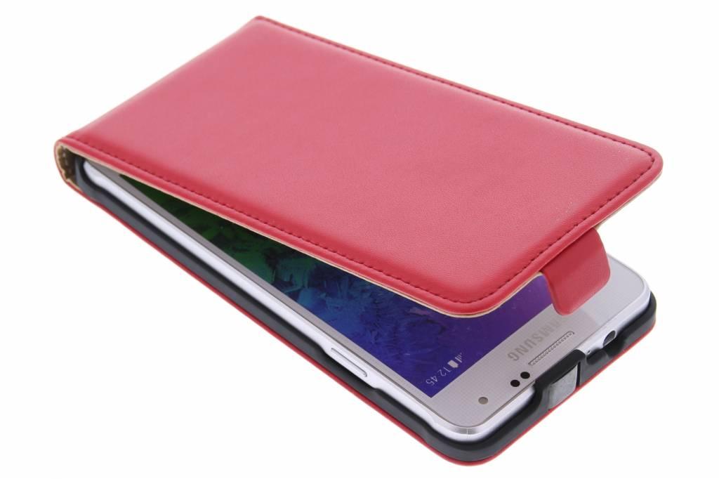 Rode luxe flipcase voor de Samsung Galaxy Alpha