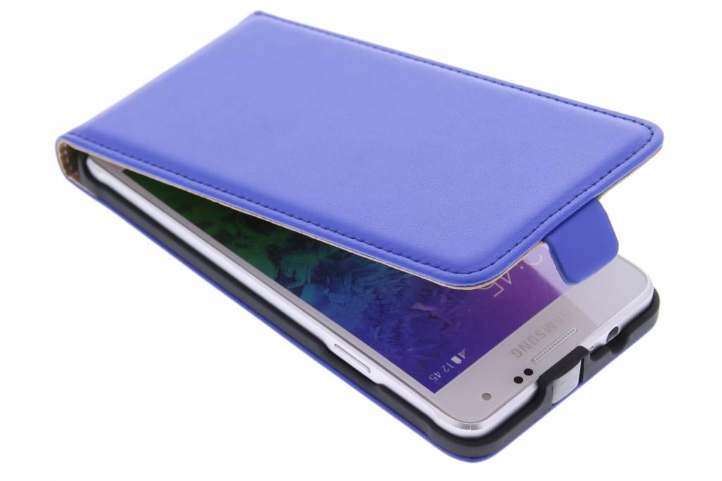 Blauwe luxe flipcase voor de Samsung Galaxy Alpha