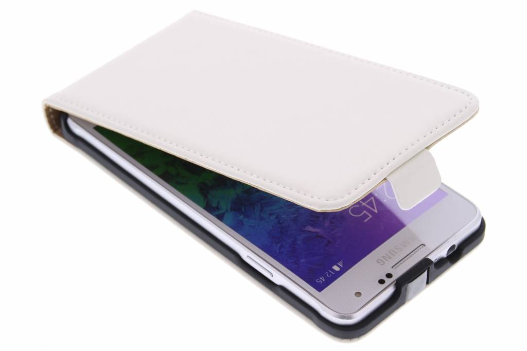 Mobiparts Premium flipcase voor de Samsung Galaxy Alpha - White