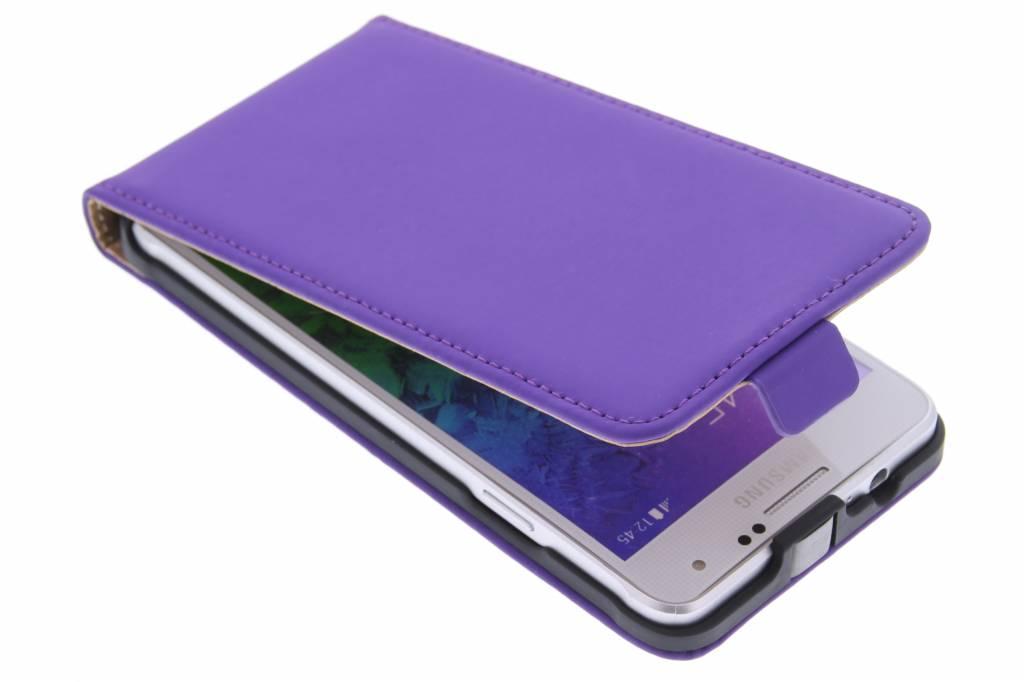 Mobiparts Premium flipcase voor de Samsung Galaxy Alpha - Purple