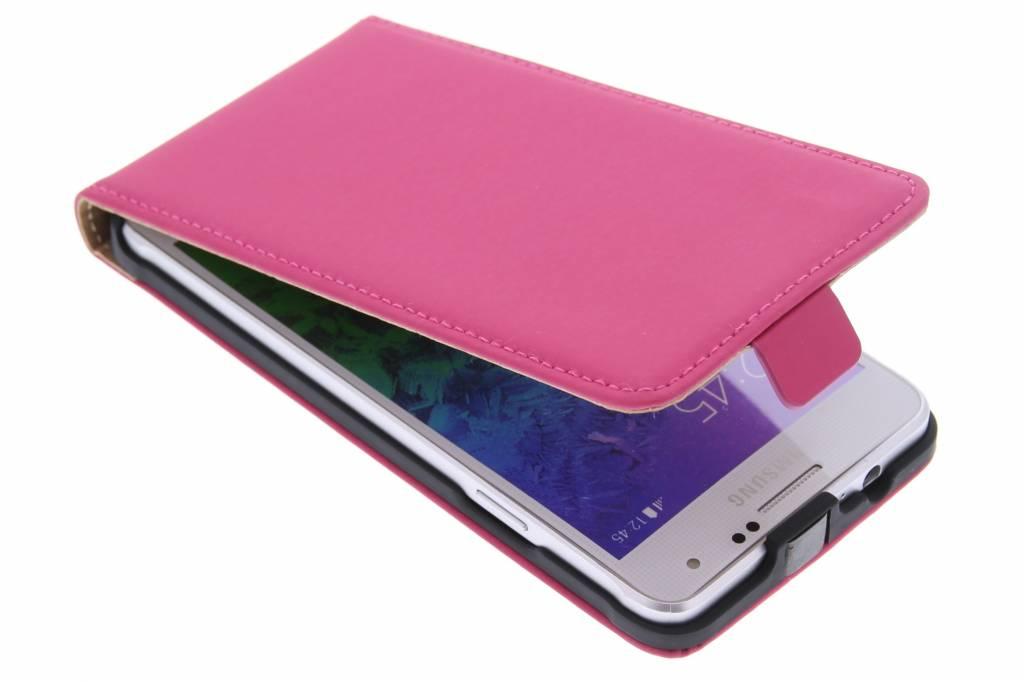 Mobiparts Premium flipcase voor de Samsung Galaxy Alpha - Roze