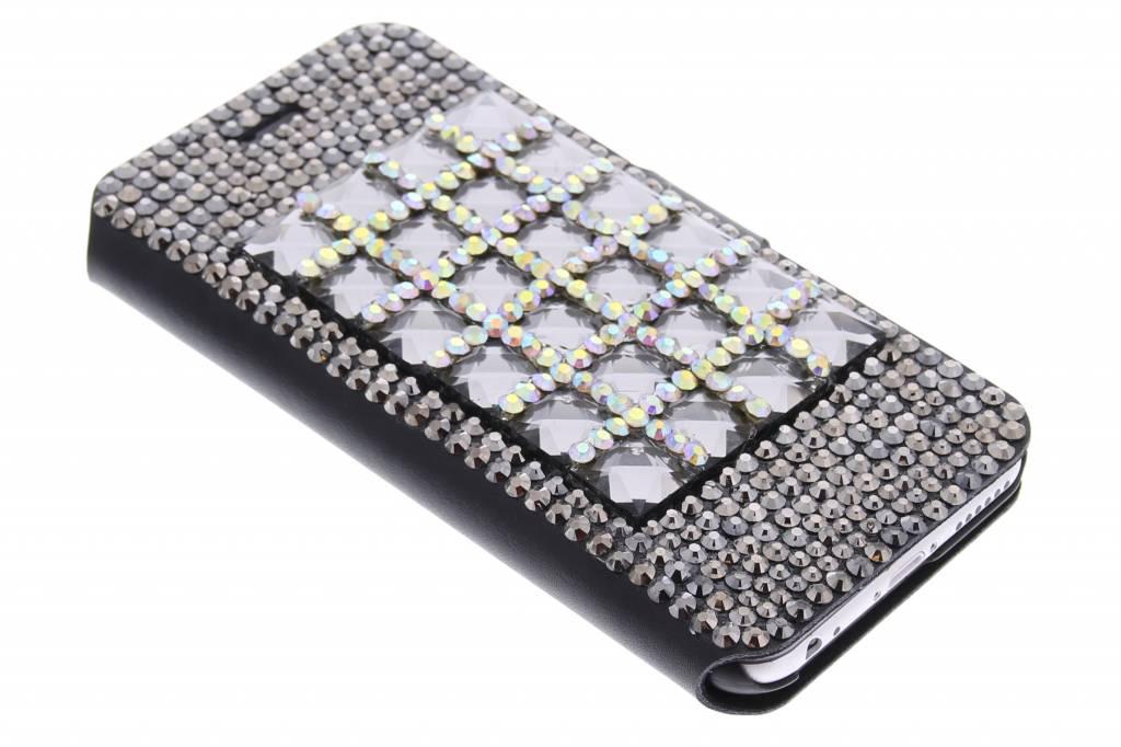 Glazen strass-steentjes booktype hoes voor de iPhone 6 / 6s