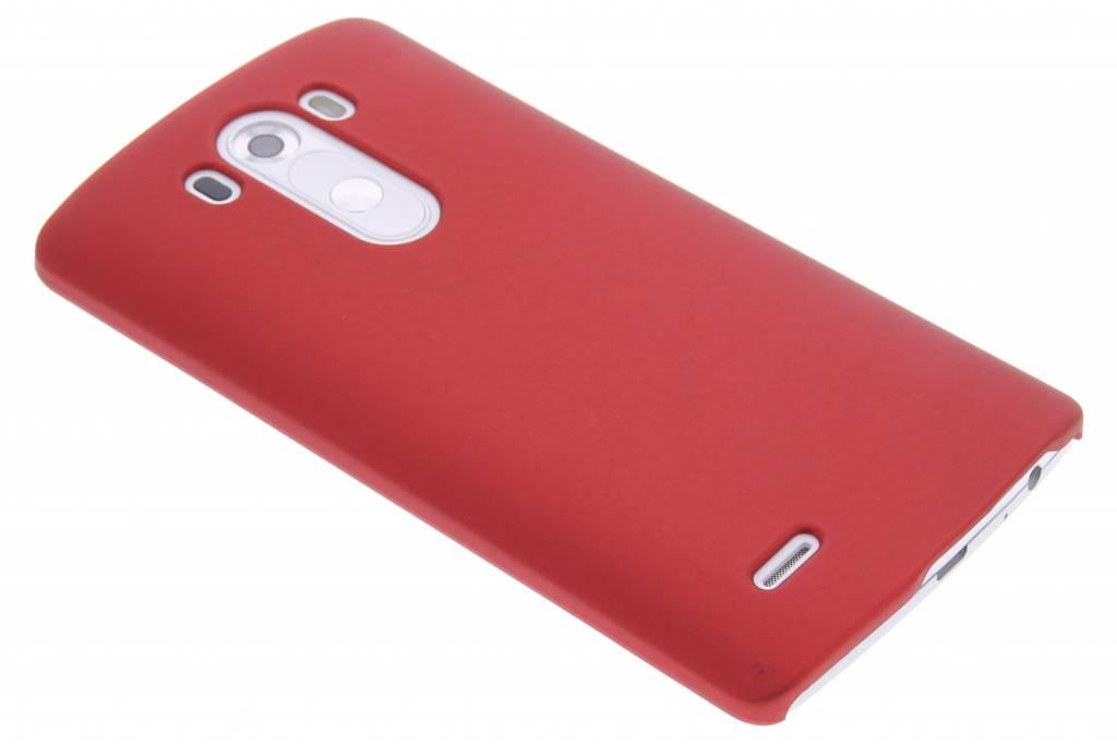Rood effen hardcase hoesje voor de LG G3
