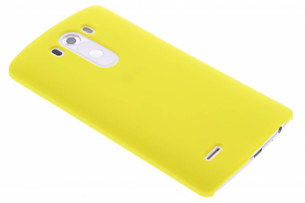 Geel effen hardcase hoesje voor de LG G3