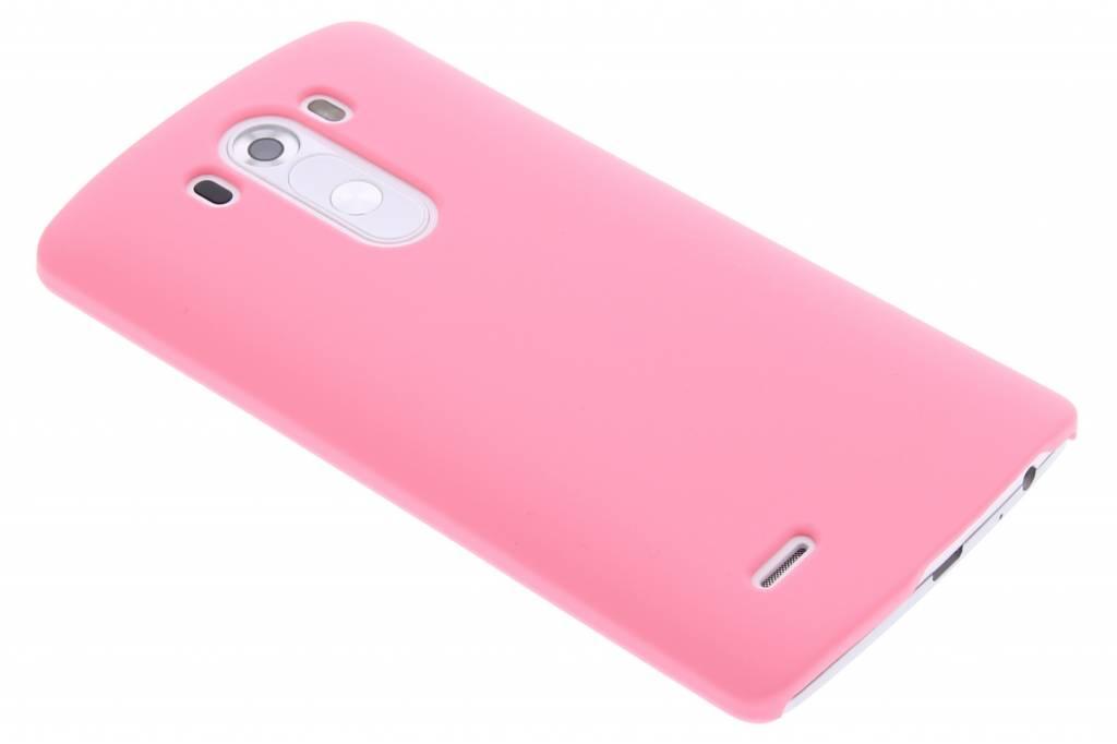 Roze effen hardcase hoesje voor d LG G3