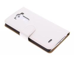 Wit effen booktype hoes LG G3