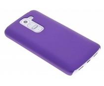Paars effen hardcase hoesje LG G2 Mini