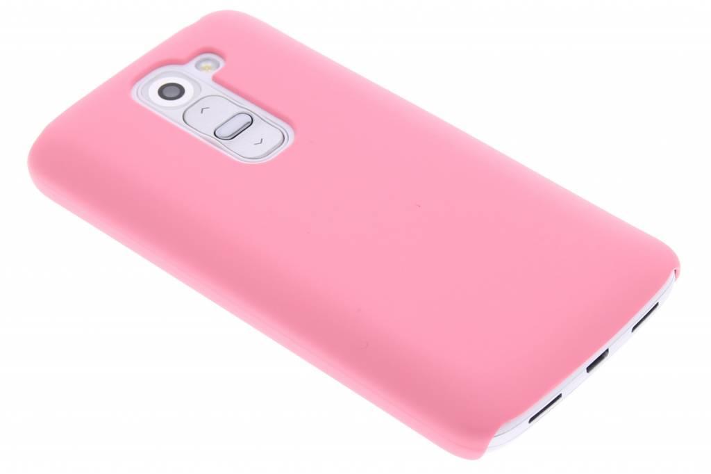 Roze effen hardcase hoesje voor de LG G2 Mini